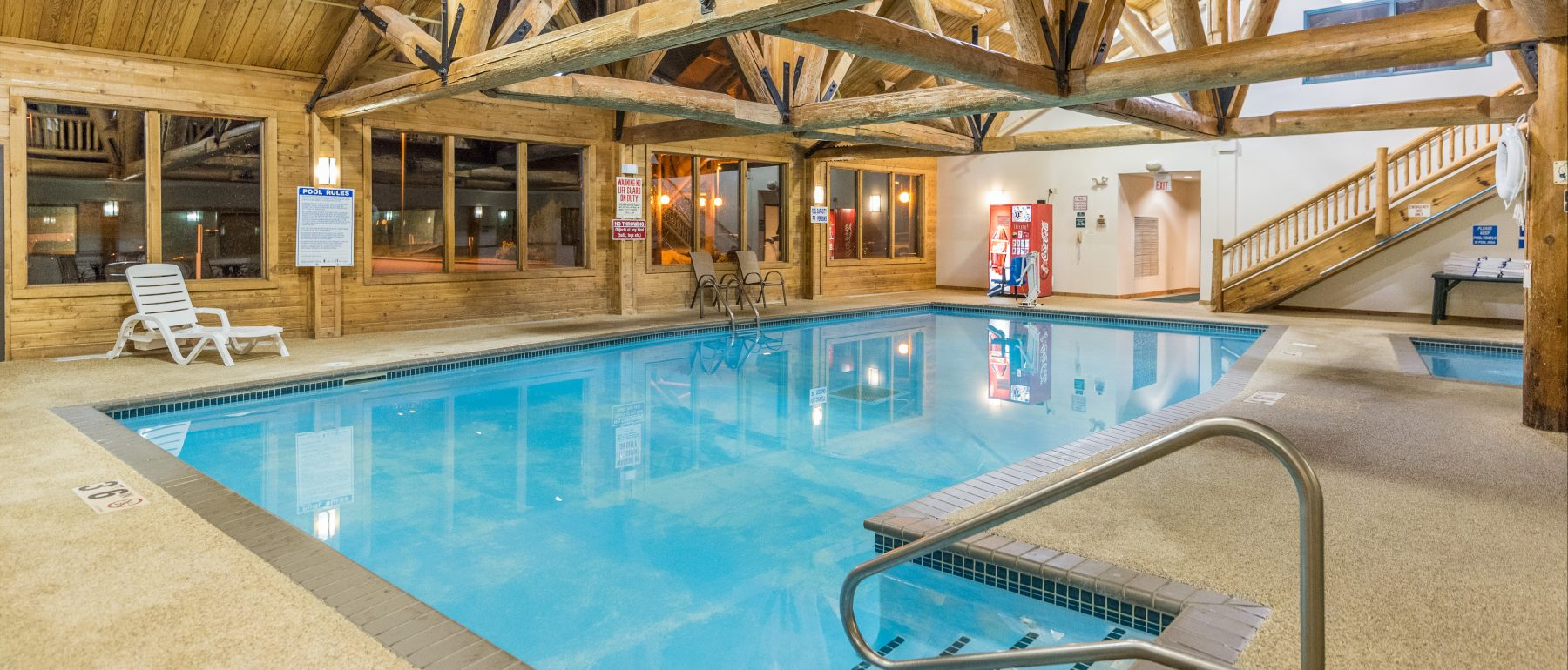 View of the Indoor Pool and Hot tub