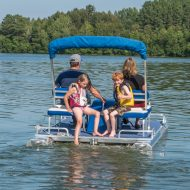 Family Riding Peddle Pontoon