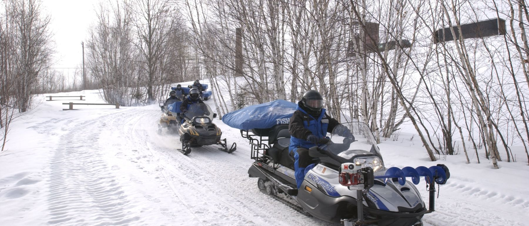 Snowmobiling at Grand Ely Lodge