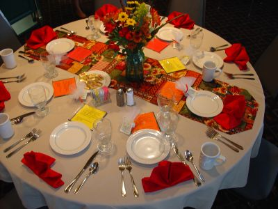 Banquet Fall Table Setting