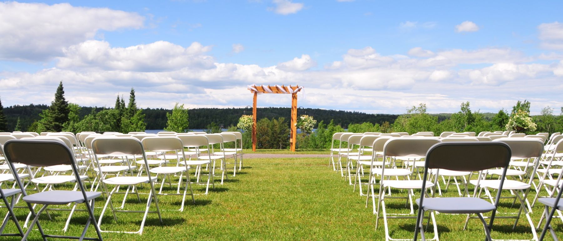Wedding Outside chair setup