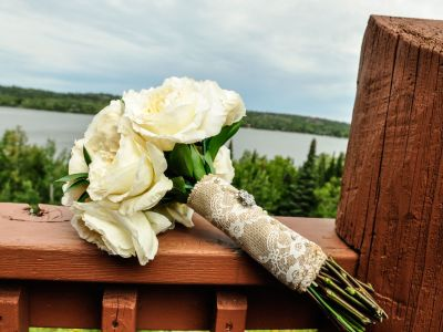 wedding bouquet at Grand Ely Lodge
