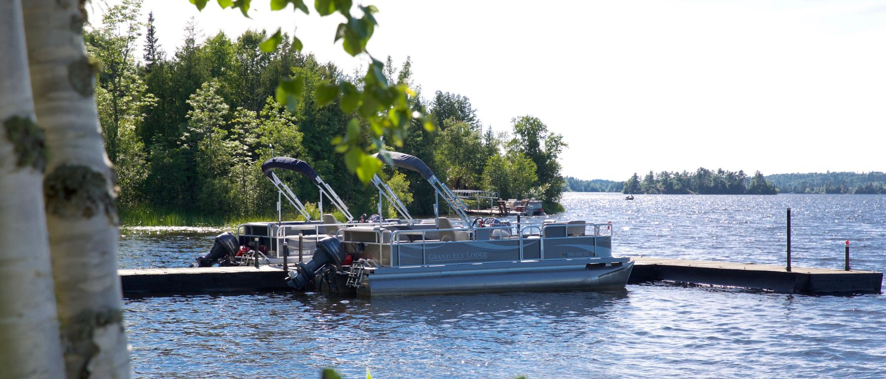 go sailing on a boat near Grand Ely Lodge Minnesota Hotel