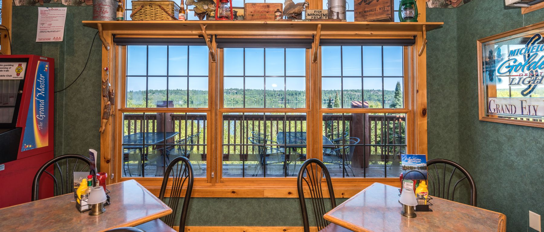 Ample Seating at Evergreen Restaurant at Grand Ely Lodge